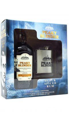 Peaky Blinders - Hip Flask Gift Pack w/ Black Spiced Rum