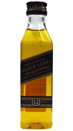 Johnnie Walker - Black Label Blended Scotch Miniature 12 year old Whisky